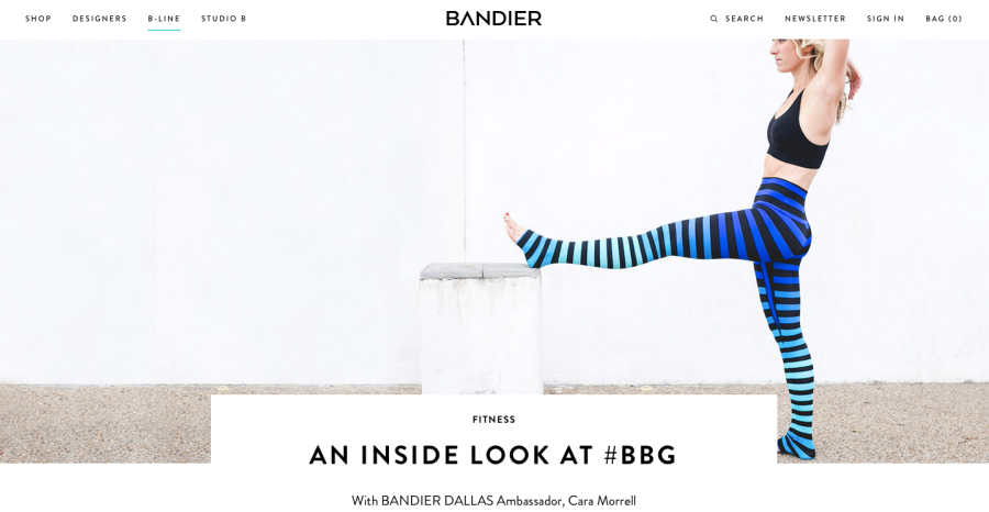 Bandier's B-LINE Online Magazine: An Inside Look at #BBG