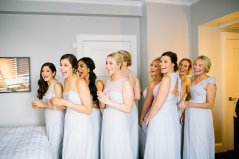 First look with the bridesmaids!
